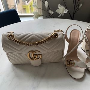 Ivory Gucci Marmont Purse